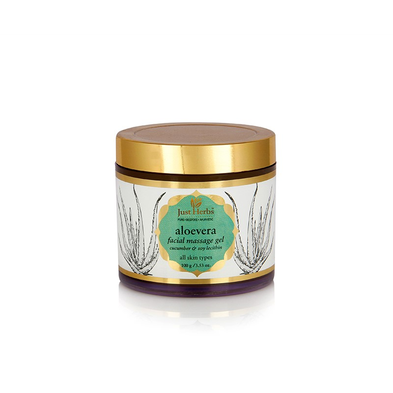 Gel massage mặt Nha đam Aloevera - Just Herbs
