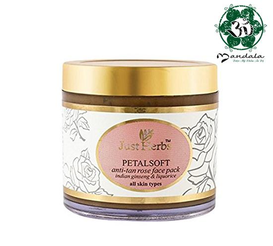 Mặt nạ cánh hoa hồng PetalSoft Antitan Rose Face Pack - DATE T10/2022